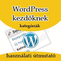 Kategóriák létrehozása - WordPress kezdőknek