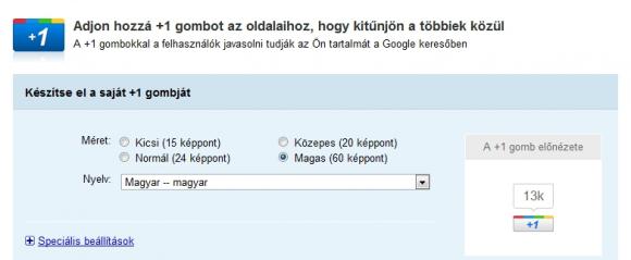 Google + 1 gomb a WordPress oldaladra