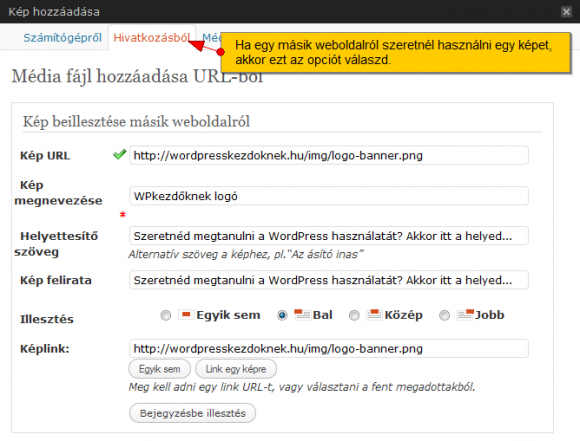 Kép hozzáadása egy másik weboldaról url-en keresztül