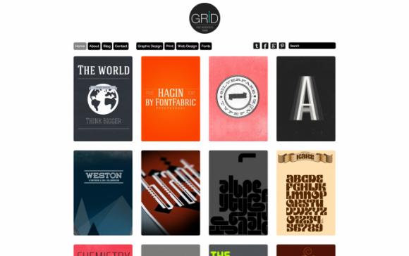Grid wordpress sablon