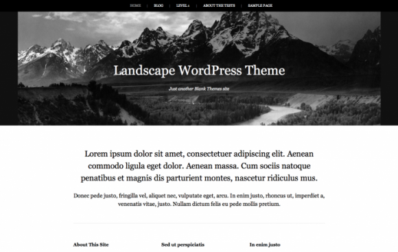 Landscape wordpress sablon