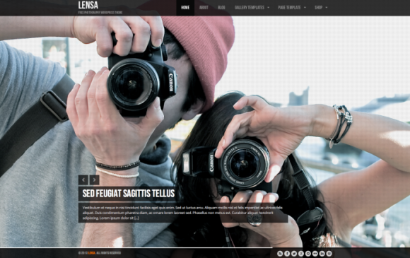 Lensa premium wordpress sablon