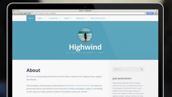 Highwind WordPress sablon