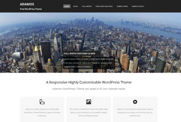 Adamos WordPress sablon